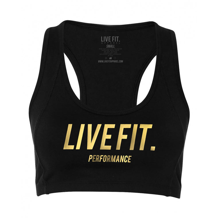 Gold Edition Sports Bra - Black