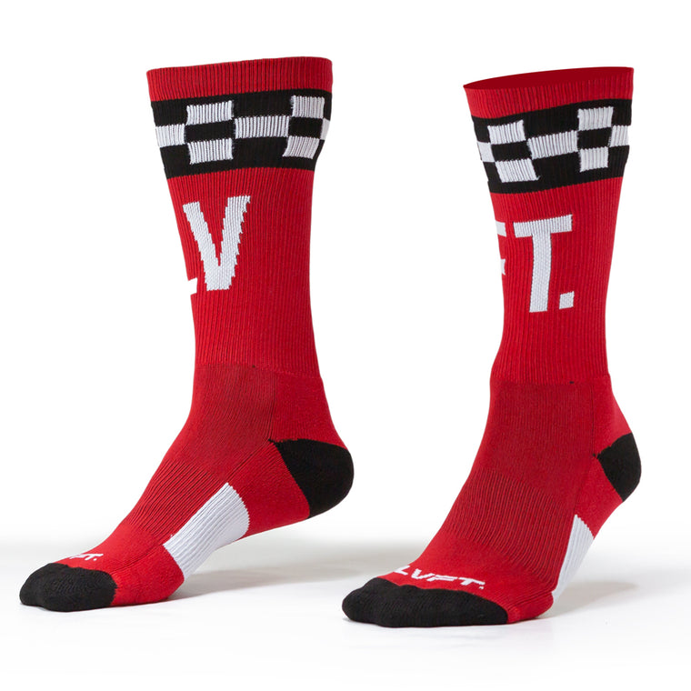Checker Socks - Red/Black