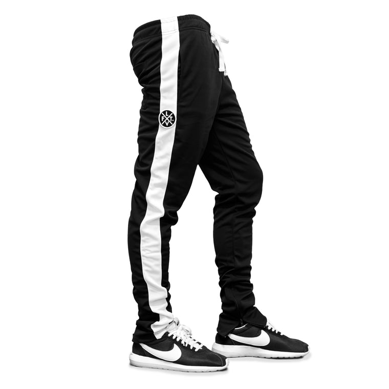 LVFT. Slim Trackies - Black/White