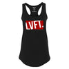 Live Fit Apparel LADIES BLOCK RACERBACK TANK - BLACK/RED - LVFT