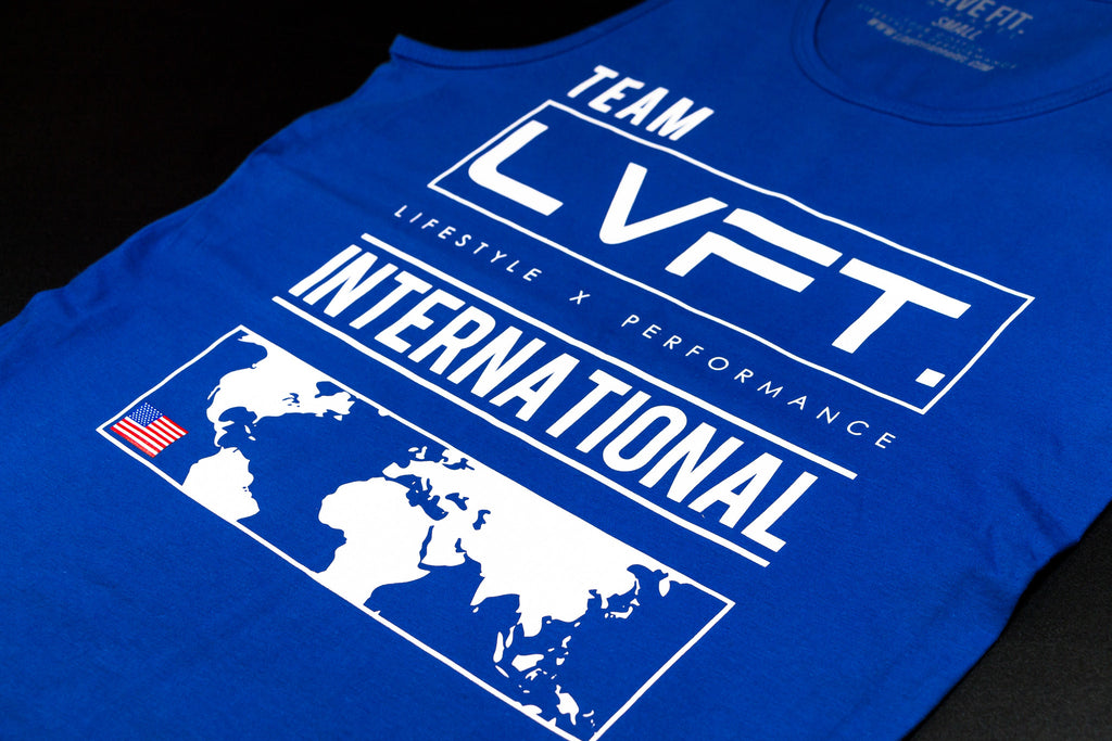 Live Fit Apparel International Tank - Blue - LVFT