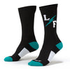 Live Fit Apparel L/F Bolt Socks - Black/Teal - LVFT