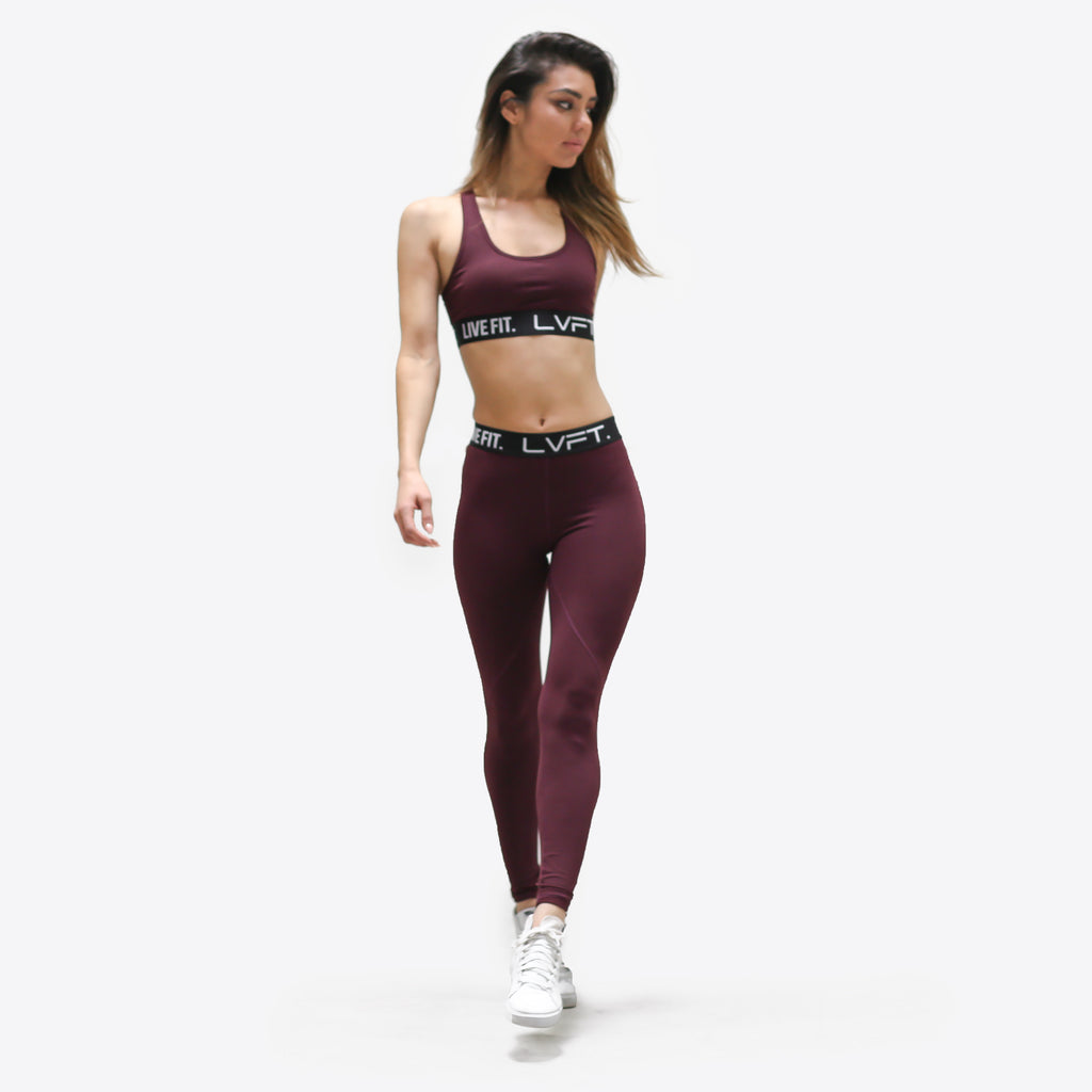 Retro Boom Sports Bra-Berry