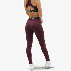Retro Boom Leggings-Berry