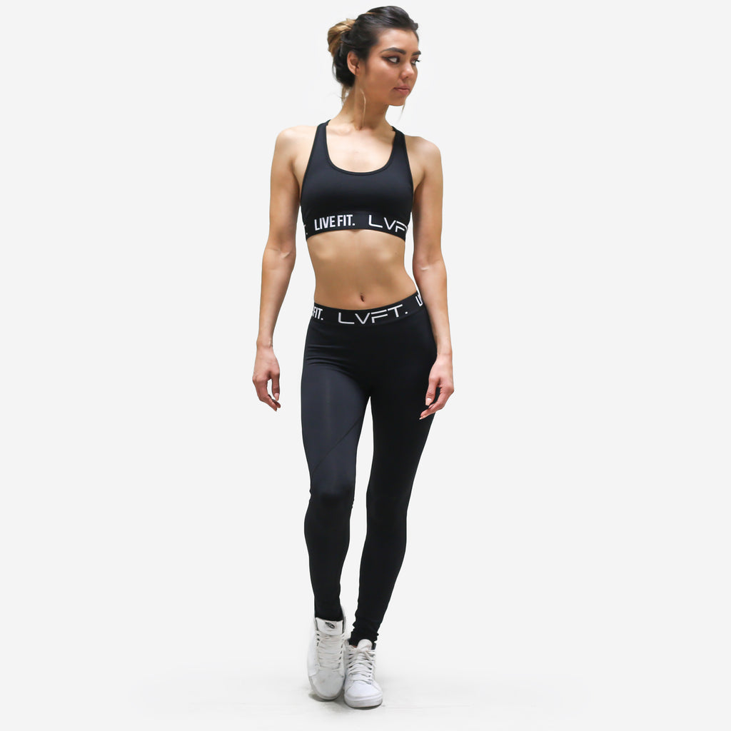 Retro Boom Sports Bra-Black
