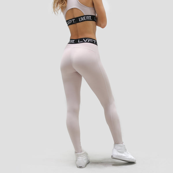Retro Boom Leggings-Blush