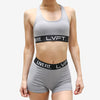 Retro Boom Sports Bra- Cement