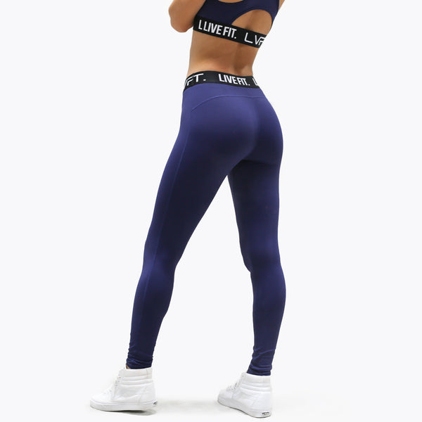 Retro Boom Leggings- Midnight