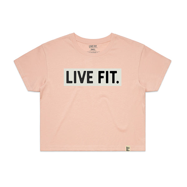 Box Logo Crop Tee - Pink