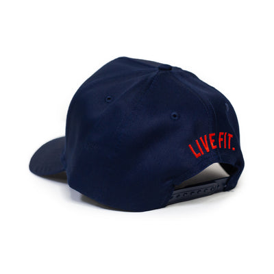 Live Fit Apparel LF Classic Cap - Navy / White - LVFT