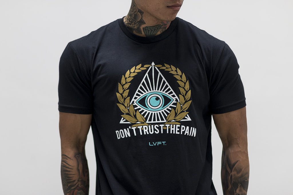 Don't Trust The Pain Tee- Black