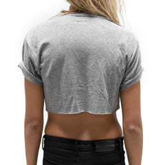 0012 Crop Tee - Charcoal Heather