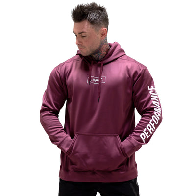 Live Fit Apparel Boxed Performance Tech Hoodie - Burgundy - LVFT