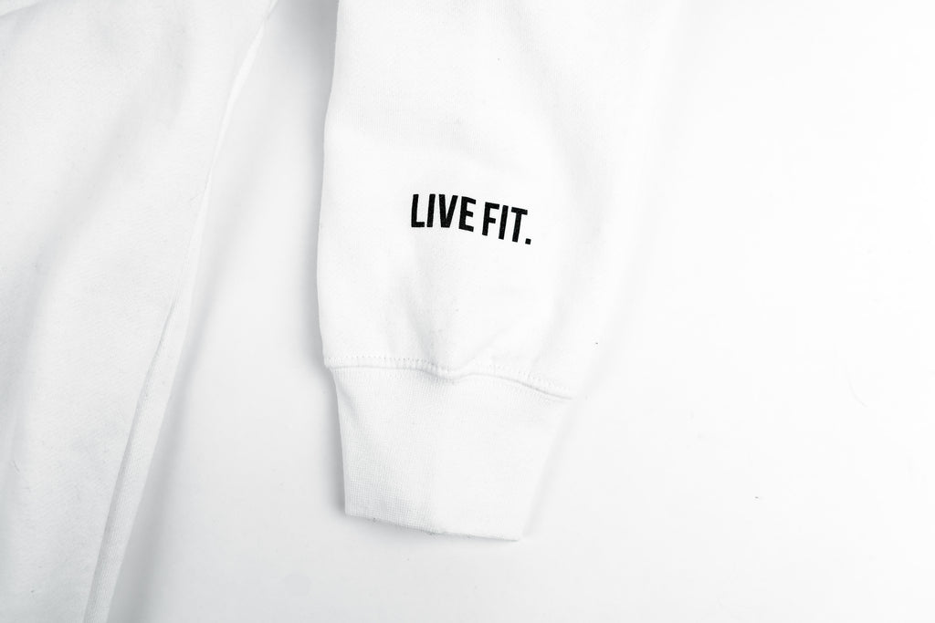 Live Fit Apparel LVFT x Cortez Fight Team Hoodie - White - LVFT