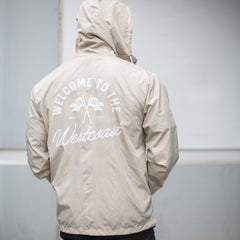 County Windbreaker - Tan / White