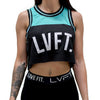 Baseline Crop Jersey - Black / Teal
