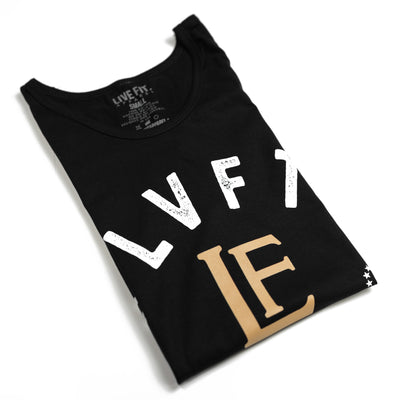 Live Fit Apparel LVFT. Die Strong Tank - Black - LVFT
