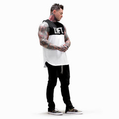 Split Tank - Black / White