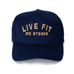 Live Fit Apparel LVFT. Die Strong Cap - Navy - LVFT