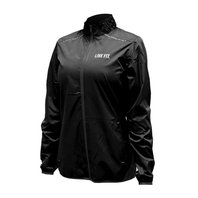 Flash Track Windbreaker - Black