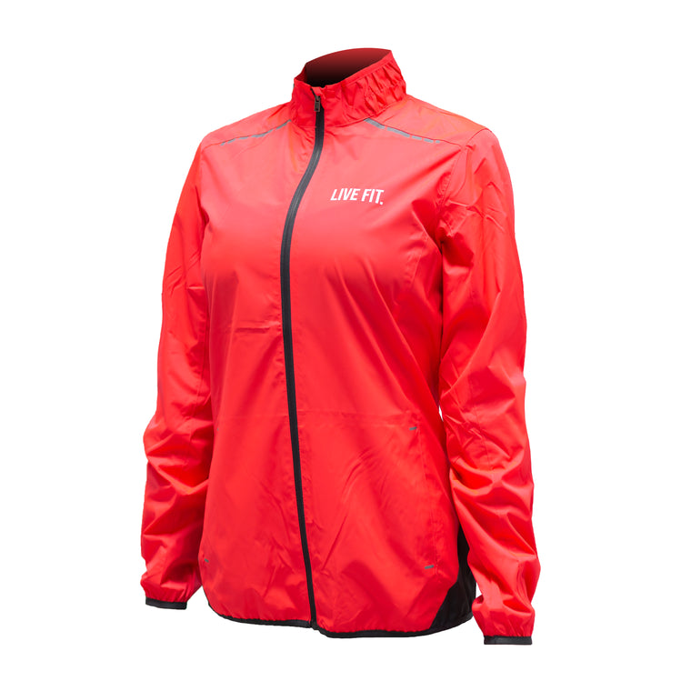 Flash Track Windbreaker - Coral
