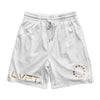 Court Shorts - White / Gold