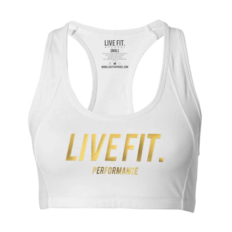 Gold Edition Sports Bra - White