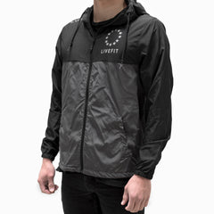 Live Fit Apparel Hardline Windbreaker- Black/Grey - LVFT