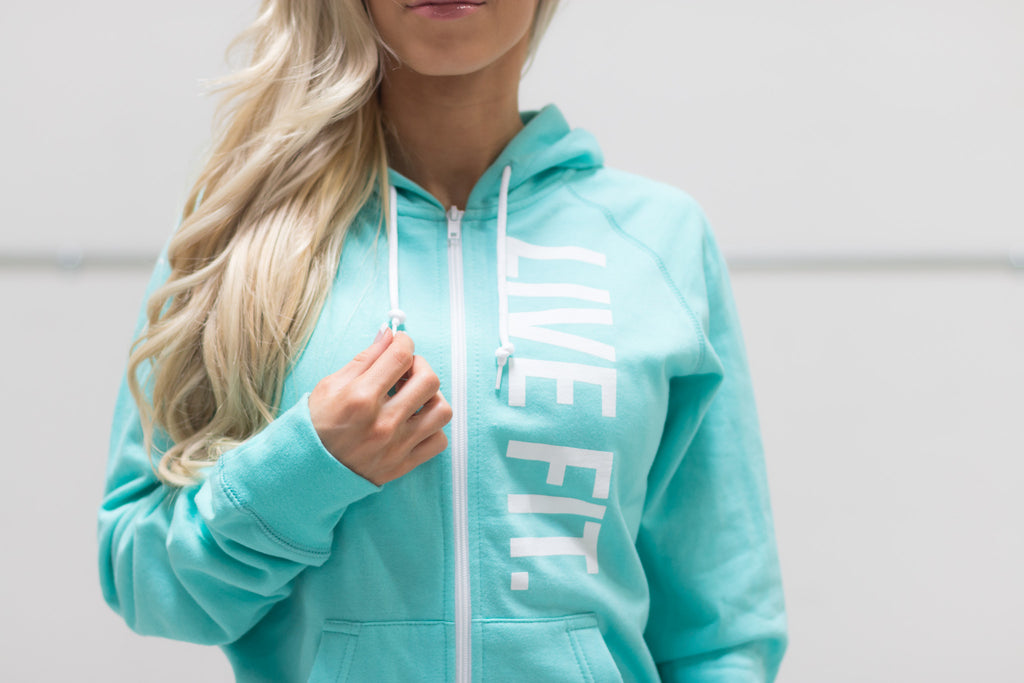 Live Fit Apparel Live Fit Zip Up - Teal - LVFT