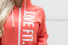 Live Fit Apparel Live Fit Zip Up - Coral - LVFT