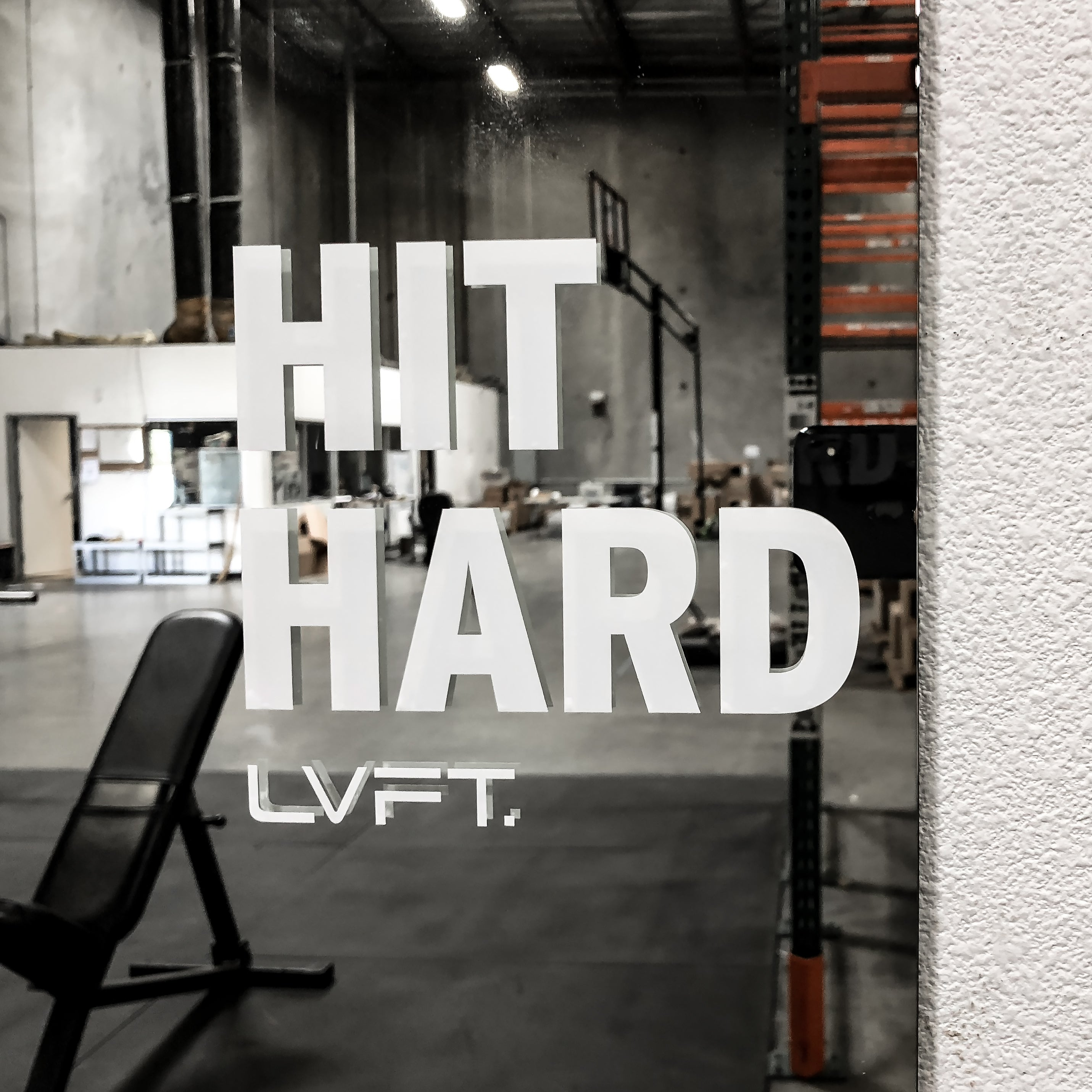 Hit Hard Decal