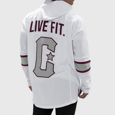 Live Fit Apparel LVFT. Hockey Jersey- White - LVFT