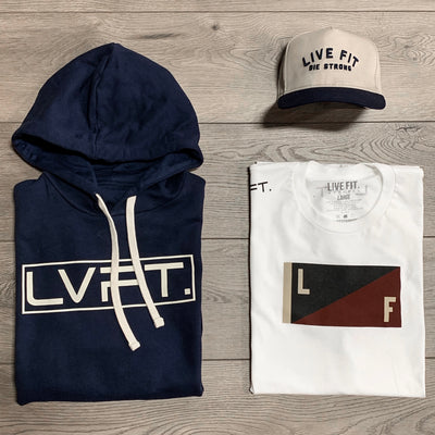 Live Fit Apparel International II Hoodie - Navy - LVFT