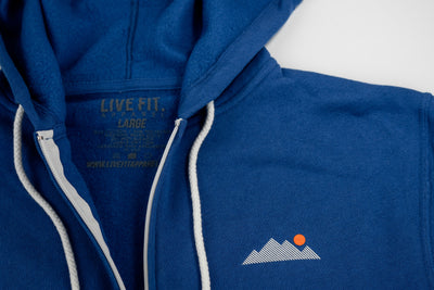 Mountain Zip Up - Blue
