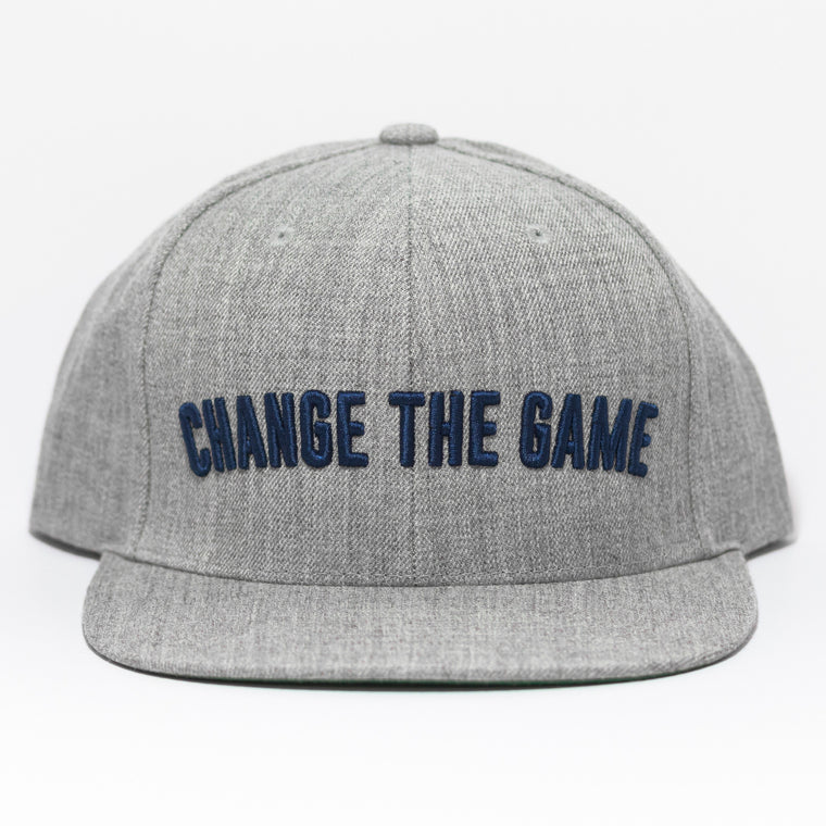 Change The Game Snapback - Grey/ Navy