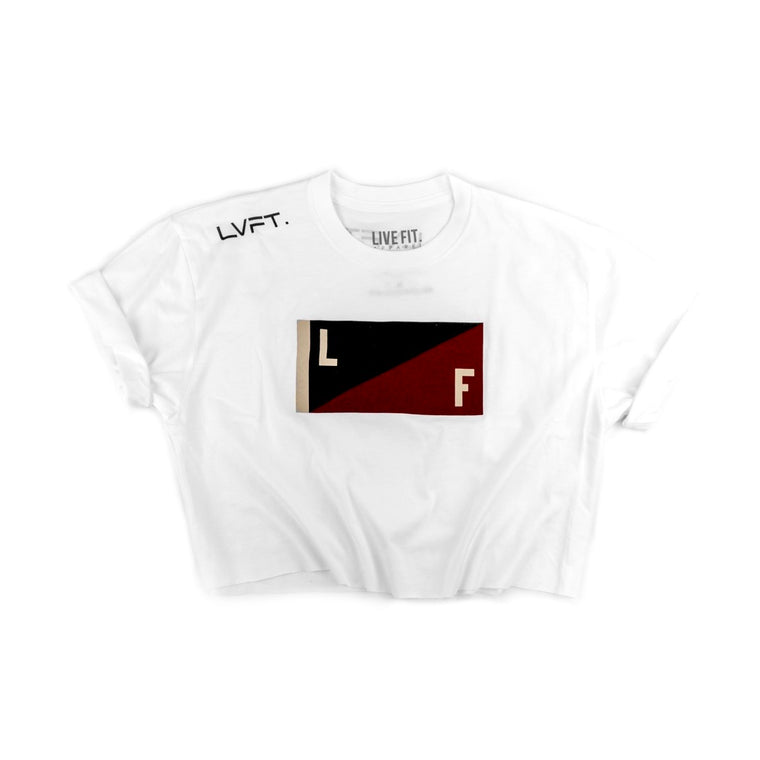 Victory Crop Tee - White