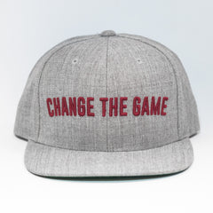 Live Fit Apparel Change The Game Snapback - Grey/ Red - LVFT
