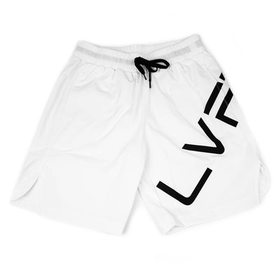 Live Fit Apparel Impact Shorts - White - LVFT