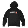 Stacked Womens Hoodie - Black/Infrared