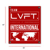 Live Fit Apparel International Banner - Red - LVFT