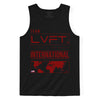 Live Fit Apparel INTERNATIONAL TANK - BLACK/RED - LVFT