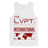 Live Fit Apparel INTERNATIONAL TANK - WHITE/RED - LVFT