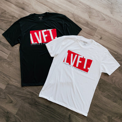 Live Fit Apparel BLOCK TEE - WHITE - LVFT