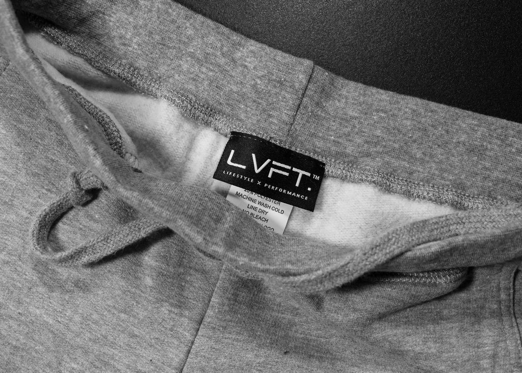 Live Fit Apparel Original Womens Jogger Sweat Pants - Heather Grey - LVFT