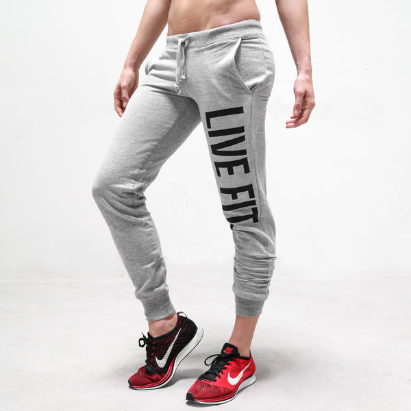 Original Womens Jogger Sweat Pants - Heather Grey