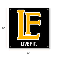 Live Fit Apparel LF Classic Banner - Black/Gold - LVFT