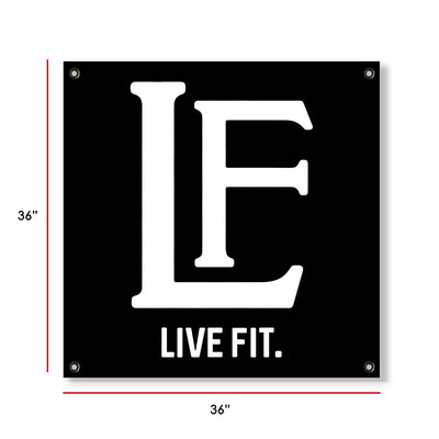Live Fit Apparel LF Classic Banner - Black/White - LVFT