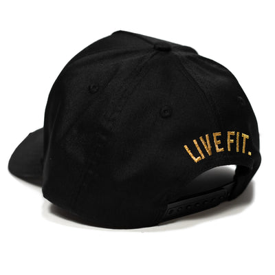 Live Fit Apparel LF Classic Cap - Black/Gold - LVFT