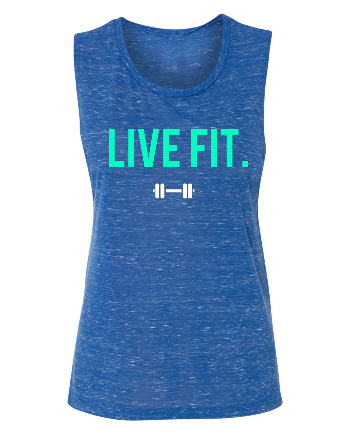 Live Fit Muscle Tank- Royal Marble