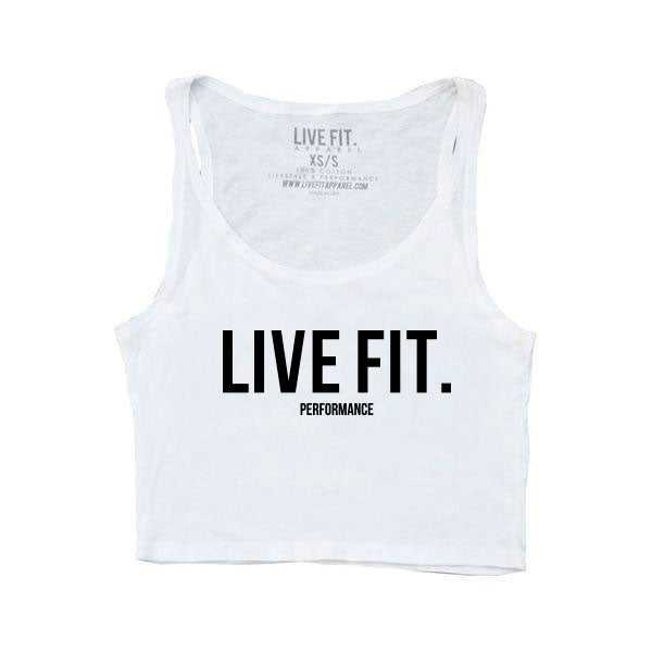 Live Fit Crop Tank - White